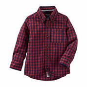 Oshkosh Boys Long Sleeve Button-Front Shirt