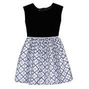 Marmellata Short Sleeve Cap Sleeve Empire Waist Dress - Big Kid