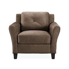 Hartford Microfiber Rolled Arm Chair