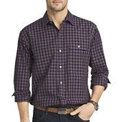 Van Heusen® Long-Sleeve Shadow-Plaid Shirt