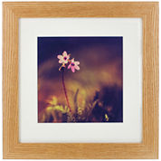 Natural Wood with White Matted Picture Frame