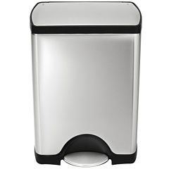 simplehuman® 30L Rectangular Step Trash Can in Brushed Stainless Steel