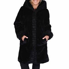 Excelled® Faux-Fur Short Solid Coat - Plus