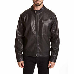 EXCELLED MENS FAUX LEATHER JACKET