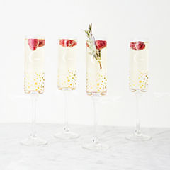 Cathy's Concepts Personalized Gold Dot 4-pc. Champagne Flutes