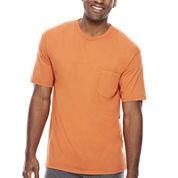 Stafford® Performance Heavyweight Crewneck Pocket Tee - Big & Tall
