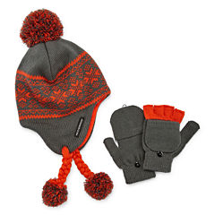 Weatherproof Peruvian Hat and Glove Set - Boys 8-20