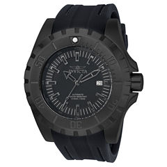 Invicta Mens Black Strap Watch-23801