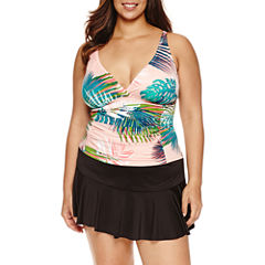 Liz Claiborne® Tropical Solution Tankini or Skirted Hipster- Plus