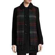 St. John's Bay® Wool-Blend Scarf Coat