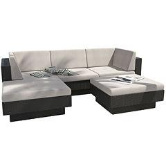 Park Terrace 5-pc. Double Armrest Sectional Patio Set