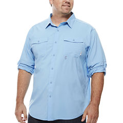Columbia Long Sleeve Button-Front Shirt-Big and Tall