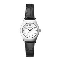 Carriage by Timex® Womens Black Strap Watch C3C3649J