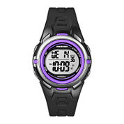 Marathon by Timex® Womens Black Resin Strap Digital Watch T5K364M6