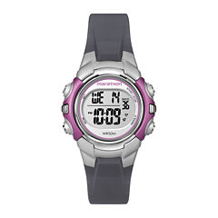 Marathon by Timex® Womens Gray Resin Strap Digital Watch T5K646M6