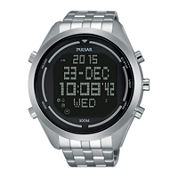 Pulsar® On the Go Mens Stainless Steel World Time Chronograph Sport Watch PQ2043