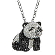 Animal Planet™ Crystal Sterling Silver Endangered Giant Panda Pendant Necklace