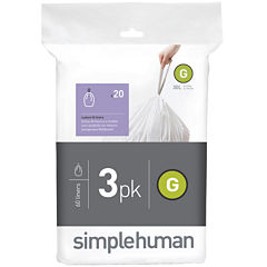 simplehuman® Custom Fit Trash Can Liners Code G - 60-Pack