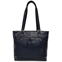 east 5th Leather Front Pocket Tote Bag
