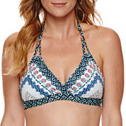 Liz Claiborne Pattern Halter Swimsuit Top