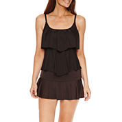 Liz Claiborne® Tiered Tankini or Skirted Hipster
