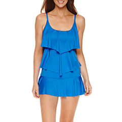Liz Claiborne® Tiered Tankini or Swim Bottoms