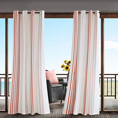 Madison Park Bolinas Grommet-Top Outdoor Curtain