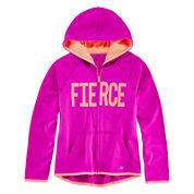 Xersion™ Graphic Zip-Front Fleece Hoodie - Girls 7-16 and Plus
