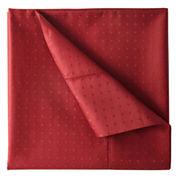 Royal Velvet® 500tc Wrinkle-Free Damask Swiss Dot Sheet Set
