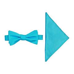 JF J. Ferrar® Pre-Tied Bow Tie with Pocket Square