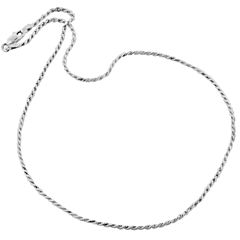 """Made in Italy Sterling Silver 16"""" Diamond-Cut Rope Chain"""