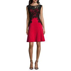 Melrose Sleeveless Fit & Flare Dress