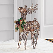 North Pole Trading Co. Outdoor Light Up Reindeer Looking Up