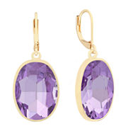 Monet Jewelry Purple Drop Earrings