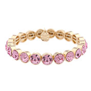 Monet Jewelry Womens Pink Stretch Bracelet