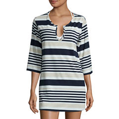 a.n.a Long Sleeve Stripe Tunic