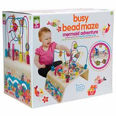 Alex Toys Alex Jr Busy Bead Mermaid Wooden Interactive Toy