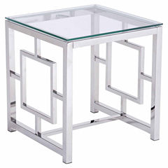 Zuo Modern Geranium Stainless Steel End Table
