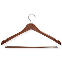 Honey-Can-Do® Cherry Contoured Suit Hanger + Locking Bar