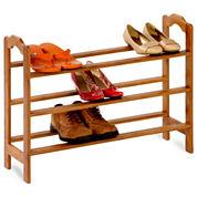 Honey-Can-Do® 3-Tier Bamboo Shoe Rack
