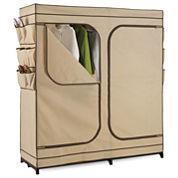 Honey-Can-Do® Double-Door Clothing Storage Closet w/ Shoe Organizer