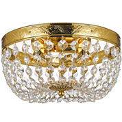 French Empire Flush-Mount Crystal Chandelier
