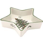 Spode® Christmas Tree Porcelain Star-Shaped Dish