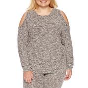 Flirtitude Cozy Fleece Sweatshirt-Juniors Plus