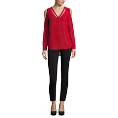 Nicole By Nicole Miller Long Sleeve Cold Shoulder Top or Ankle Pants