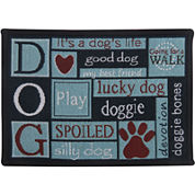 PB Paws by Park B. Smith® I Love Dogs Tapestry Pet Mat