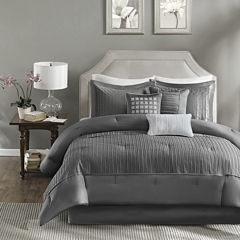 Madison Park Curtis Pleated 7-pc. Comforter Set