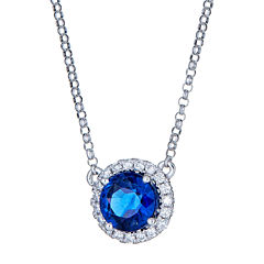 LIMITED QUANTITIES! 1/7 CT. T.W. Blue Tanzanite 14K Gold Pendant Necklace