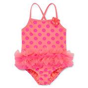 Okie Dokie Girls Pattern One Piece Swimsuit-Toddler