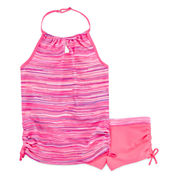 Free Country Girls Stripe Tankini Set - Big Kid